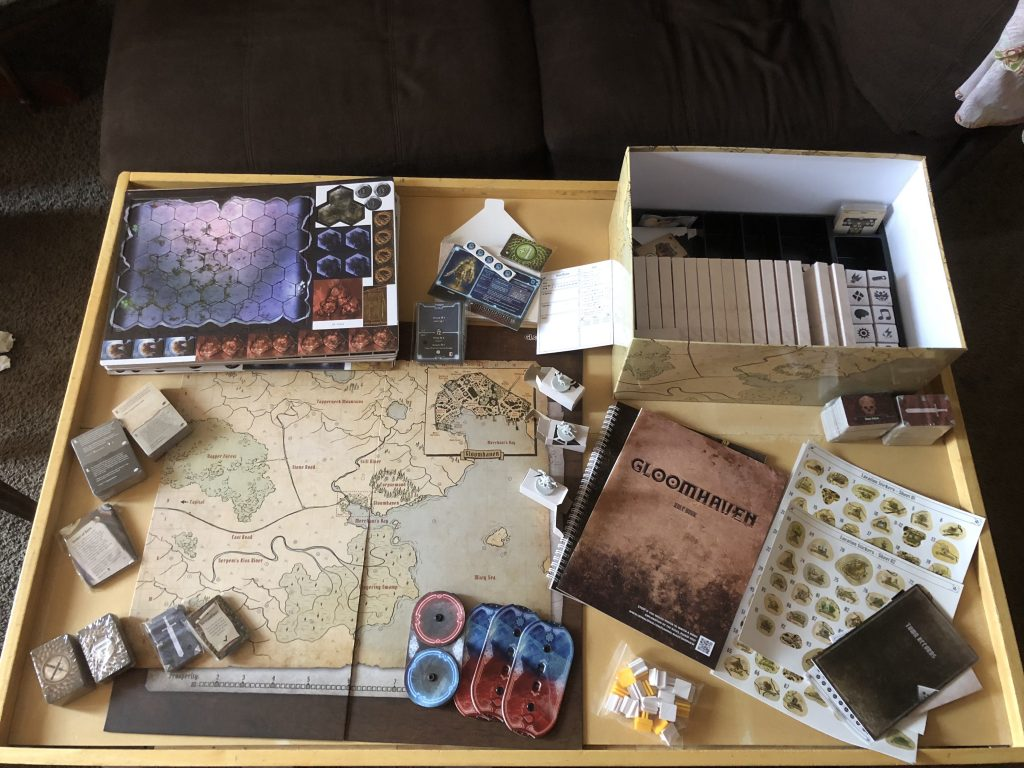 The Gloomhaven boardgame unboxed