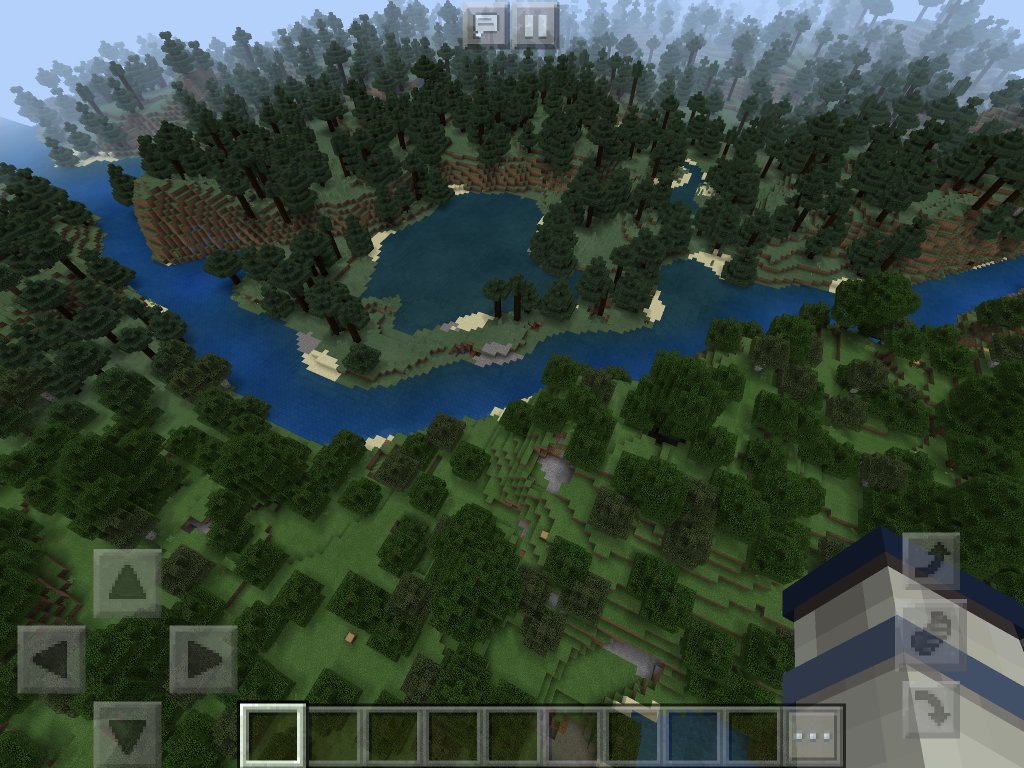 Minecraft relaxation forest