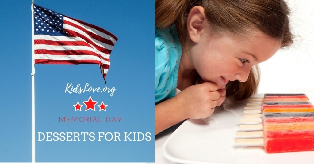 Kid staring at popsicle desserts on Memorial Day